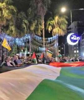 مسيرة في طمون اسنادا لأهلنا في القدس المحتلة وقطاع غزة